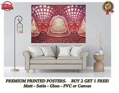 Alex Grey Godself Large Poster Art Print Gift A0 A1 A2 A3 Maxi
