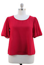 NWT Jon & Anna Angel Sleeves Red Top Blouse Women Plus 1X 14W / 16W