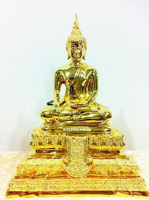 THAI AMULET BUDDHA LP WAT RAIKHING NAKHONPATHOM OVAL PENDANT DECORATIVE NECKLACE