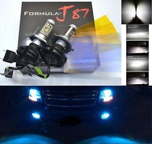 Kit-LED-X3-50-W-9003-HB2-H4-10000K-Azul-dos-bombillas-de-luz-de-cabeza-reemplazar-moto-de-nieve