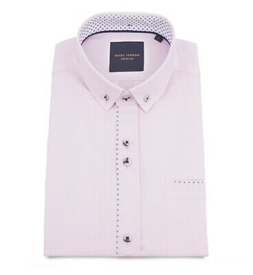 Pink Short Sleeve Shirt HS.2280 Mens Guide London