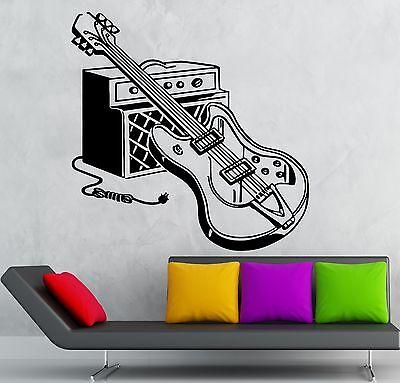 Vinyl Wall Decal Music Notes Rock Pop Musical Instrument Guitar Stickers g3538