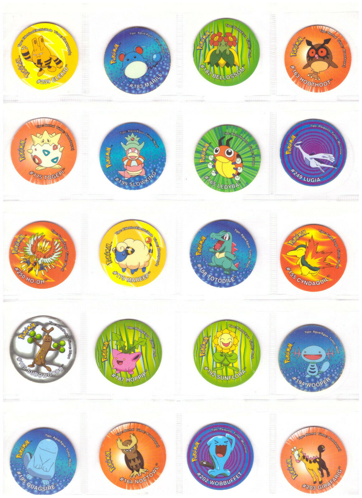 TAZOS POKEMON 3  completare 70 Pogs giocattoli Collection cifras Vintage Set OFFER  outlet online