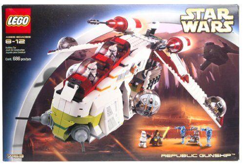 Nuevo Lego Star Wars Cañonera República 7163 sin usar y en caja sellada Envío gratuito a EE. UU.