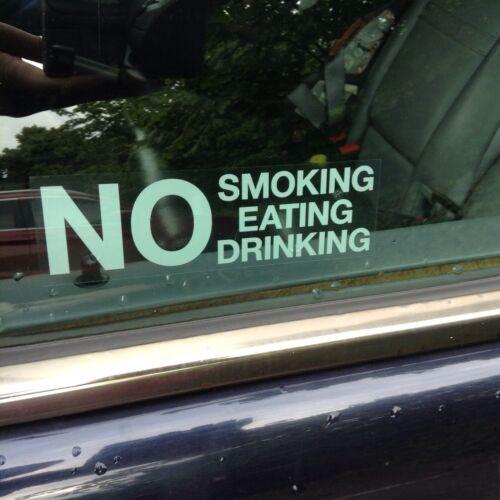 2 X NO SMOKING EATING DRINKING STICKERS JUST PEEL /& STICK