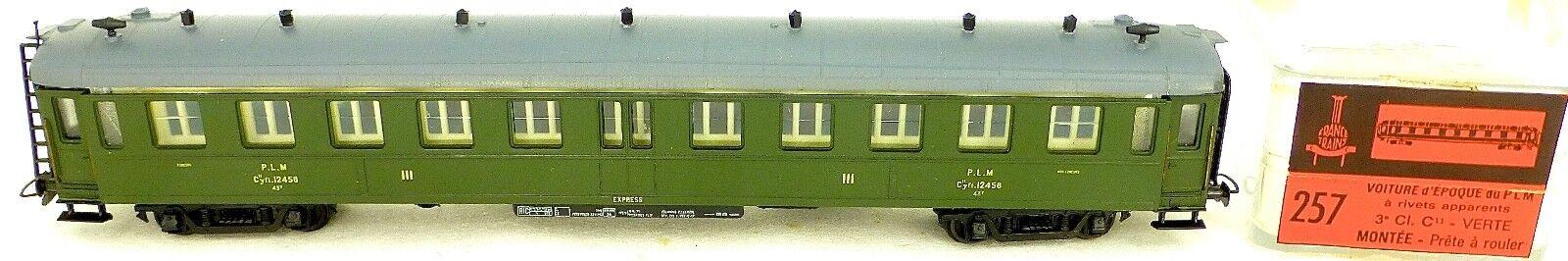 Plm 3 ;;me Cl Cyfi.12458 Voiture Verte France Trains 257 H0 1 87 Embalage