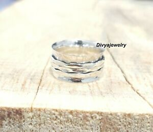 Solid-925-Sterling-Silver-Spinner-Ring-Meditation-Ring-Statement-Ring-Size-ot506