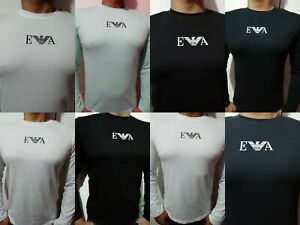 Emporio-Armani-Man-T-shirt-Short-amp-Long-Sleeve-5-Colors-free-amp-fast-UK-Delivery