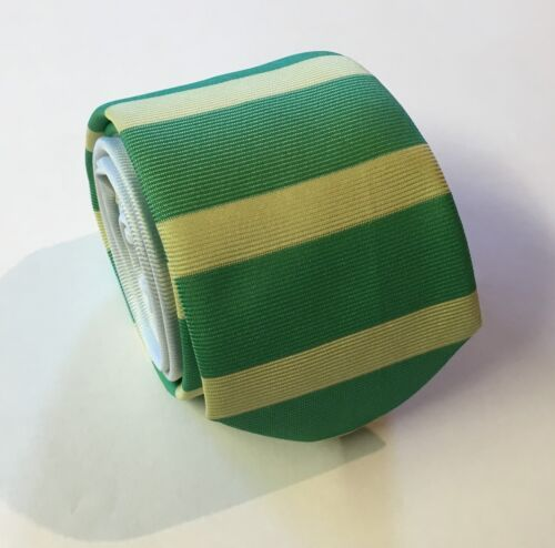 Horse Racing Tie Green and Yellow Striped