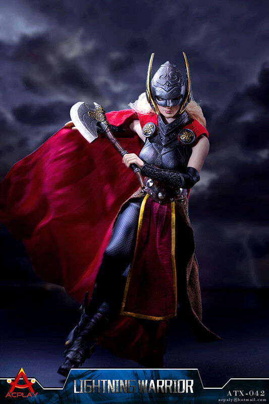 1/6  Lightning Female Warrior Set  ACPLAY ATX042 With Head Carving No Body Gifts