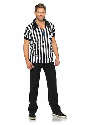 leg avenue referee costume for mens w shirt whistle new medium