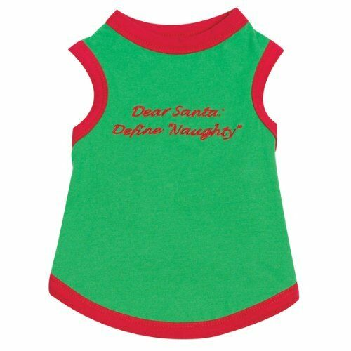 """NEW Embriodered Dog Santa Holiday Dog Tee Christmas XX-Small 8/"""" Red xxs"""