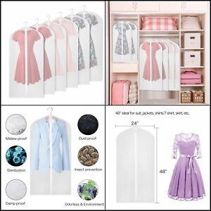 6cbed354daf Univivi Garment Bag 48 inch Suit Bag for Storage(Set of 6) for Dress ...