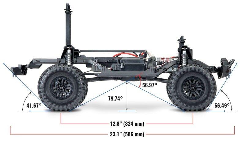 Traxxas Traxxas Traxxas trx-4 scale crawler LAND ROVER DEFENDER ROUGE 1:10 4x4 RTR 82056-4r 572f5c