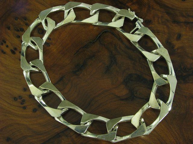 835 Bracciale argentoo argentoo argentoo in puro argentoo 19 5cm 30 6g 655e68