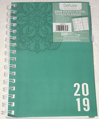Aspirante 2019 Deluxe Settimanale Mensile Spirale Etichettato Agenda Verde Calendario 5x8
