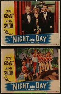 NIGHT-AND-DAY-LOBBY-CARD-Size-11x14-Movie-Poster-Set-of5-CARY-GRANT-ALEXIS-SMITH