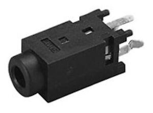 10x pcs Vertical PCB Mount 4 Pin Female 3.5 mm Audio Video AV Jack Socket Black