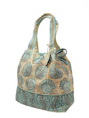 LUXUS Designer Beutel Strandtasche Beachbag Canvas Schultertasche, Muschel