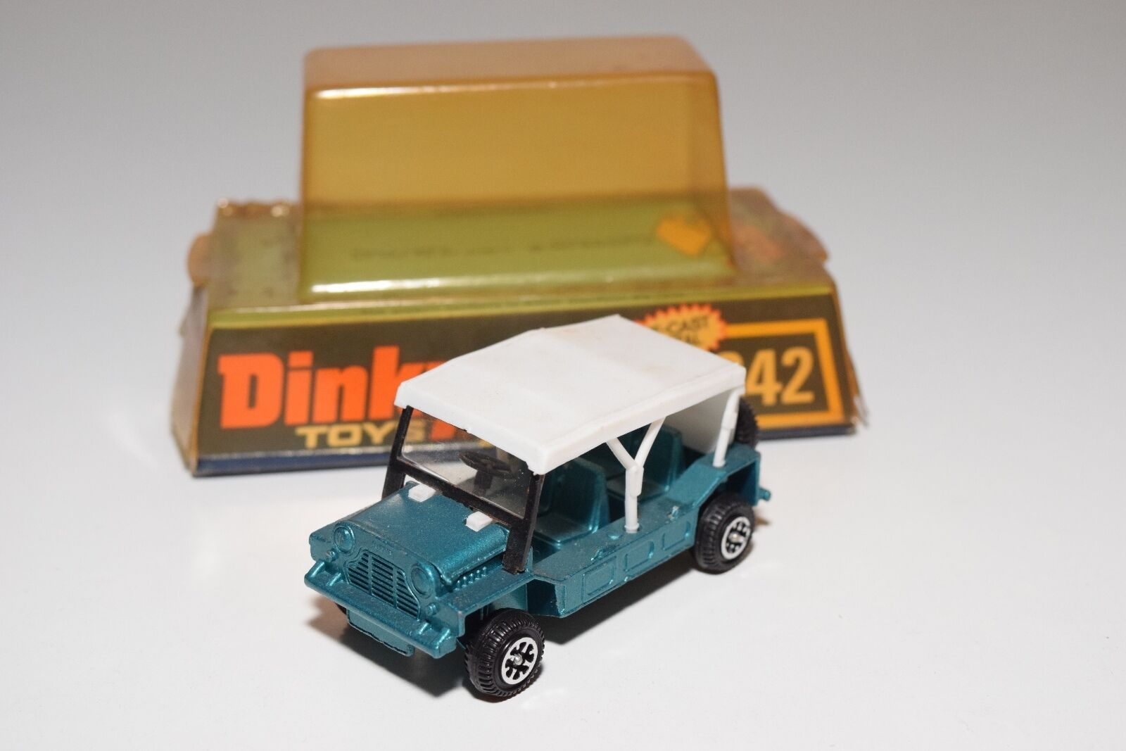 \\ DINKY TOYS 342 AUSTIN MINI MOKE METALLIC verde VERY NEAR MINT BOXED