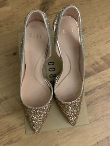 Goldamp; Coast Eu Uk 41 Ombre Glitter HeelsWith Box Silver 7 5 Size PXZkOuiT