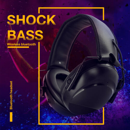Electronic Bluethooth Folding Noise Reduction Earmuffs Shooting Protection Black