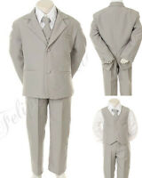 Baby Boy Toddler Formal Party Easter Tuxedo Suit Gray Size: Born To 4t