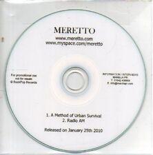 (AB494) Meretto, A Method Of Urban Survival - DJ CD