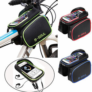 Bicycle-Front-Tube-Frame-Bag-Mobile-Phone-Case-Holder-Bags-6-2-039-039-Bike-Accessories