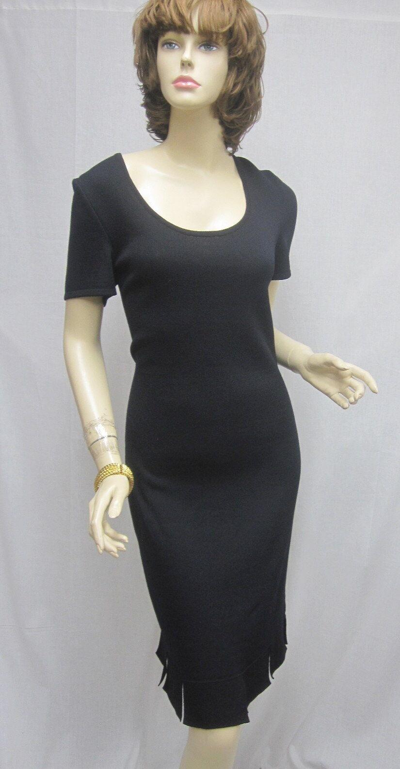 St. John  Knit Colección NWOT Vestido Negro Con Abertura Talla 8 Único  Venta barata