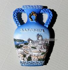 TOURIST SOUVENIR 3D TRAVEL FRIDGE MAGNET -- Santorini , Greece