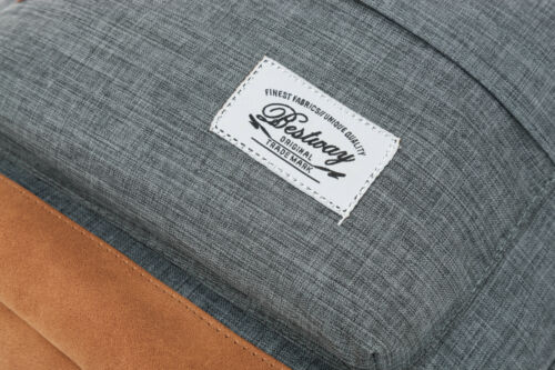 f Rucksack BESTWAY Rocky MOUNTAIN Vintage Schulrucksack Daypack 40205 M GRAU