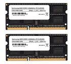 2x 4GB 8GB DDR3 Samsung Notebook RAM Laptop 1066 Mhz SO DIMM PC3-8500S Speicher