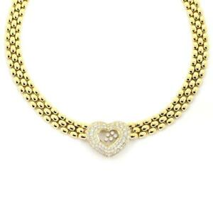 Chopard-Happy-Diamond-18k-Gold-3-25ct-Diamond-Heart-Pendant-Collar-Necklace