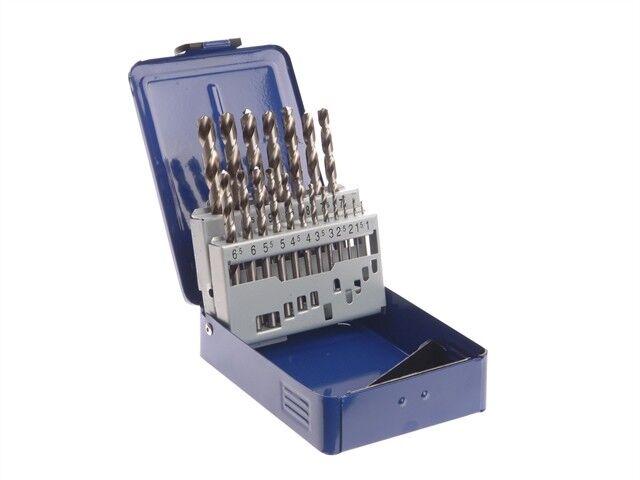 HSS Drill Bit Set of 19 M2 1 - 10mm & Case - Drill Bits - Metal - FAIMSET19PRO