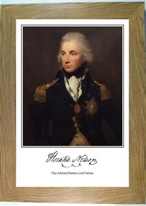 Image Is Loading Admiral Nelson Framed Portrait Print Of Vice