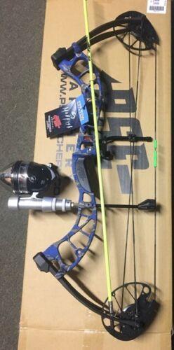 PSE D3 BLUEBowfishing Compound Bow,FISHING REEL REST FINGERS,ARROW