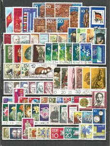 DDR-1970-gestempelt-kompletter-Jahrgang-mit-allen-Einzelmarken-gute-Stempel