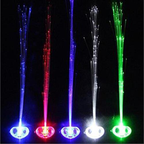 1//6x Birthday Party Gift Fiber Optic Hair LED Lights Halloween Costume Clips