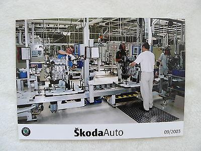 s0050 Unequal In Performance Skoda Auto Presse-foto Werk-foto Pressfoto 09/2003