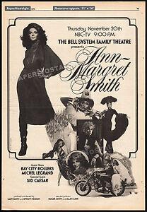 ANN-MARGRET-SMITH-Original-1975-Trade-print-AD-NBC-TV-promo-poster-SID-CAESAR