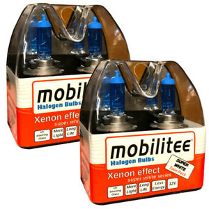 Double Pack: mobilitee H7 Xenon Look Automotive Bulbs Super White