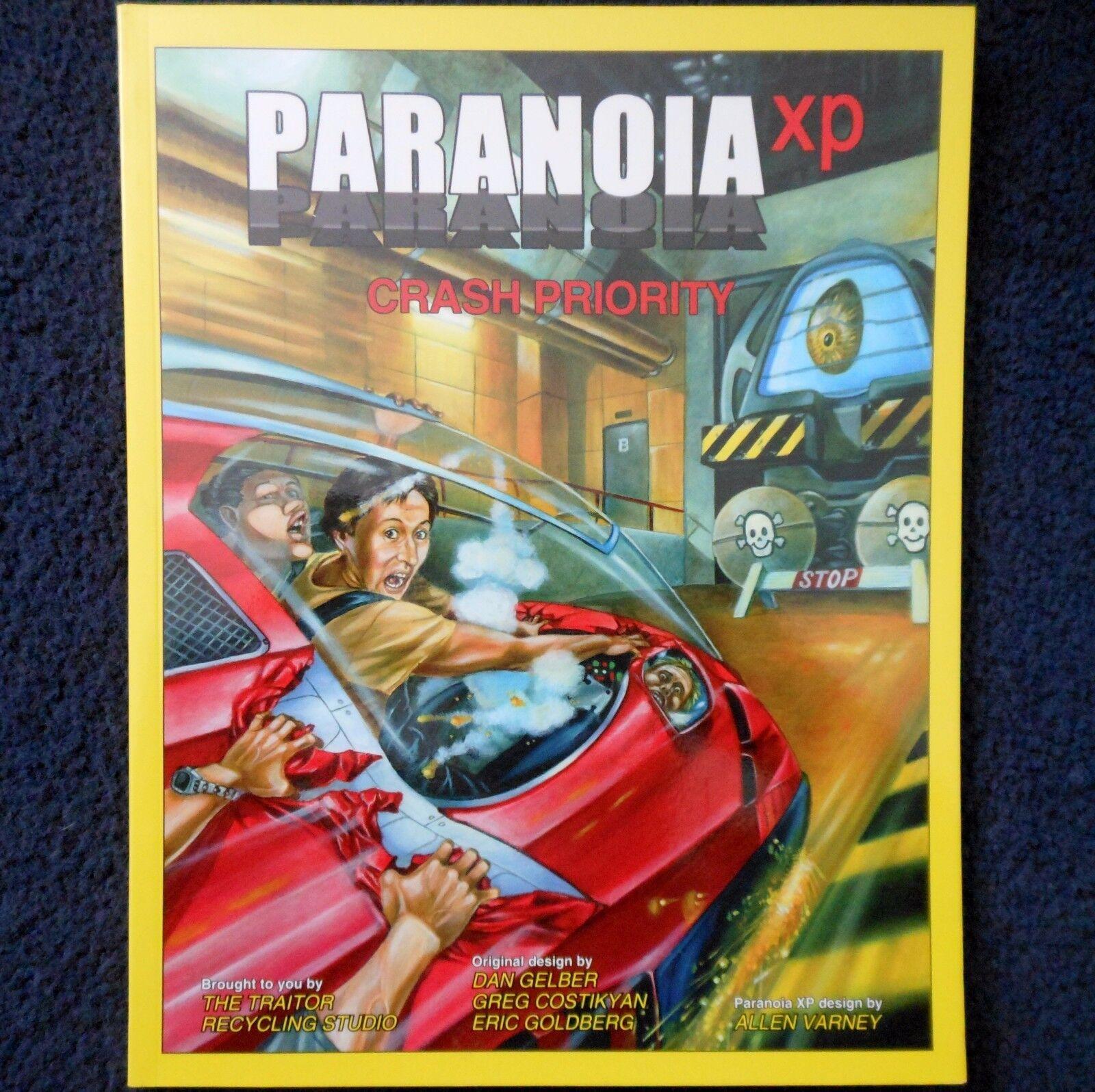 2004 Crash prioridad paranoia XP aventura módulo Mangosta Sci Fi RPG MGP 6633