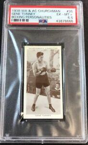 1938 Churchman's Boxing Personalities #35 GENE TUNNEY PSA 6.5 EX-MT+