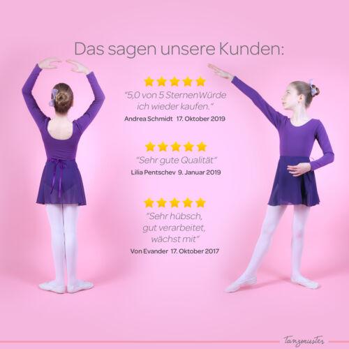 "tanzmuster Kinder Ballett Wickelrock /""Emma/"" lila Ballettrock Röckchen Rock"