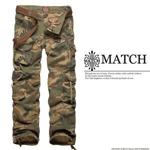 MATCH-NWT-Combat-Mens-MILITARY-Cargo-Pants-ARMY-Camo-Sz-30-32-34-36-3316M
