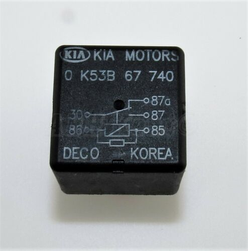 Multi-Use Black 5-Pin Relay 0K53B67740 Deco 302-Kia 1995-2010 Kia Motors