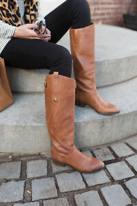 97631d548 Womens Sam Edelman Penny Riding Boots Tall Leather Military Whiskey ...