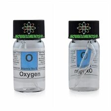 Oxygen gas 99% element 8 sample, mini ampoule in labeled glass vial