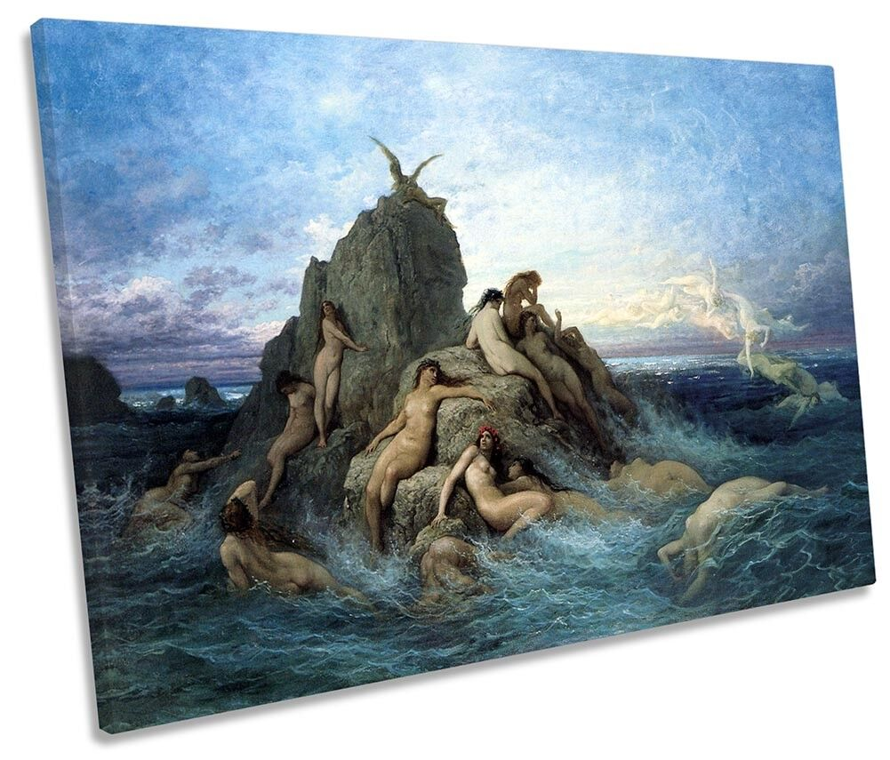 Gustave Dore Oceanides Picture SINGLE CANVAS WALL ART Print
